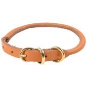 Hundhalsband Lena – läder Naturfärgat