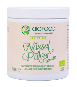 Nässelpulver Biofood 250 gram -