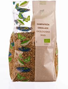 Hampafrö Oskalade Eko 500g Biofood