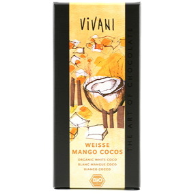 Vit Choklad Mango & Kokos 100g EKO Vivani -