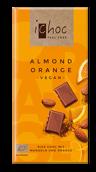 iChoc Mandel apelsin 80g Eko/Vegan