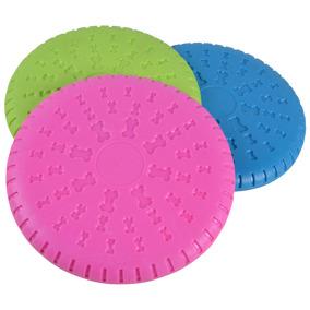 Frisbee i mjukt gummi mixade färger 23,5 cm -