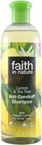 Faith in Nature - Citron & Tea Tree Schampo mot mjäll 400ml