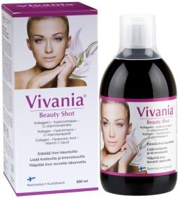 Vivania Beauty Shot – Kollagen, Hyaluronsyra, C-vitaminp -