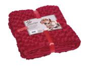 Pläd Fleece - SuperSoft - 100x150cm - Röd
