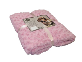 Pläd Fleece - SuperSoft - 100x150cm - Rosa