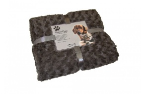 Pläd Fleece - SuperSoft - 100x150cm - Brun