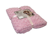 Pläd Fleece - SuperSoft - 60x85cm - Rosa