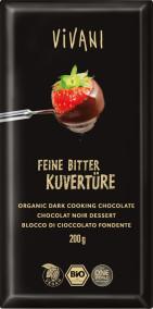 Ekologisk blockchoklad Mörk 70% 200g Vivani