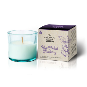 Återvunnet doftljus – Blueberry 75g
