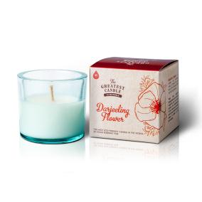Doftljus Darjeeling Flower 75g - Återvunnet ljus och glas
