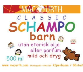 Schampo barn 250 ml - MacUrth