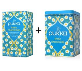 Pukka te – Three Chamomile inkl. plåtburk