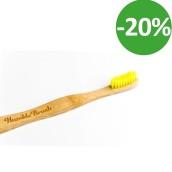Tandborste bambu mjuk – Barn Gul