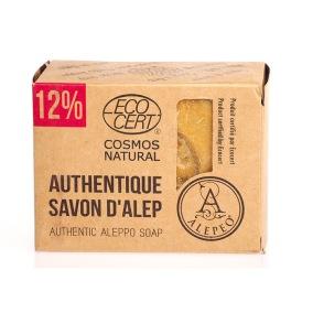 Aleppo tvål 12% Lagerbärsolja 200g EKO