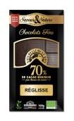 Mörk choklad 70%, Lakrits – EKO 100g