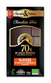 Mörk choklad 70% - Apelsinskal (kanderad) 100g EKO