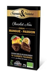 Fylld mörk choklad - Passion-Mango 80g EKO