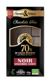 Mörk choklad 70% - Ingefära (kanderad) 100g EKO