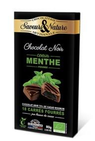 Fylld mörk choklad - Mint 80g EKO