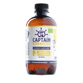 Captain Kombucha Pineapple Peach 400 ml EKO
