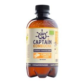 Captain Kombucha 400 ml EKO Ginger Lemon