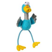Fågel med rep 40 cm blå