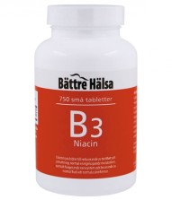 B3 Niacin 10 mg 750 tabletter