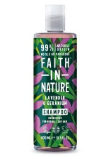 Lavendel & Geranium Schampo  400ml - Faith in Nature