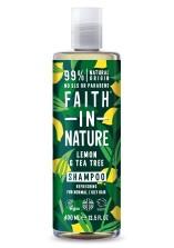 Citron & Tea Tree Schampo mot mjäll 400ml - Faith in Nature