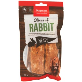 Hundsnacks Slices of Rabbit - Skivor av Kanin
