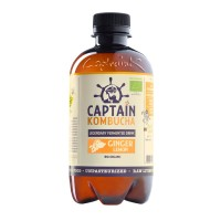 Captain Kombucha California Raspberry 400 ml EKO Ginger Lemon