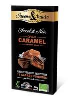 Fylld mörk choklad - Caramel & Havssalt 80g EKO