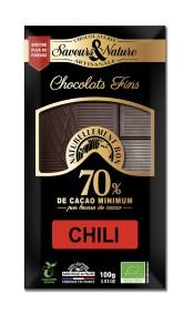 Mörk choklad 70% Chili 100g EKO