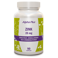 Zink 25mg 90 kap - Alpha Plus