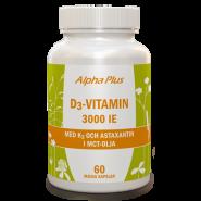 D3-vitamin 3000 IE + K2 - Alpha Plus