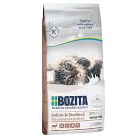 Bozita katt - Indoor & Sterilised Grain Free Reindeer