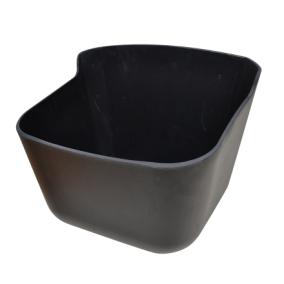 Foderkrubba med plugg 15 l svart
