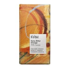 Choklad 70% Apelsin Eko 100g Vivani