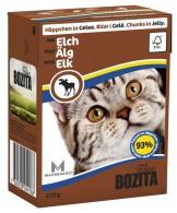 Bozita Katt - Bitar i gelé med Älg 370g