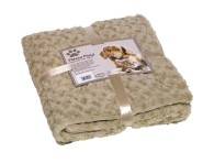 Pläd Fleece - SuperSoft - 100x150cm - Beige