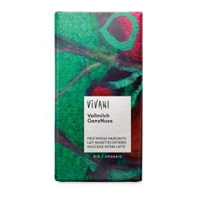 Choklad Ljus Hasselnöt 100g EKO - Vivani