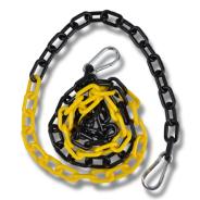 Plastkätting 2m svart/gul