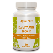 D3-vitamin 3000 IE + K2 - Alpha Plus