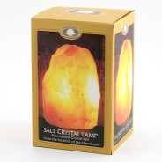Saltstenslampa med träfot (230v) 2-3kg