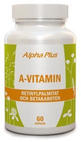 A-vitamin 60 kapslar - Alpha Plus
