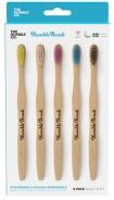 Tandborste i bambu, 5-pack, Soft