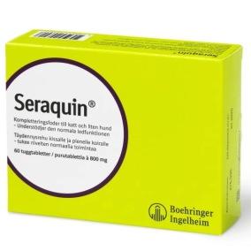 Seraquin 800 mg tuggtablett 60 st - understödjer normal ledfunktion för katt och liten hund