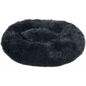 Hundbädd Fluffy Mörk grå