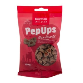 Pep Ups Duo Hearts 3-smak - Hundgodis